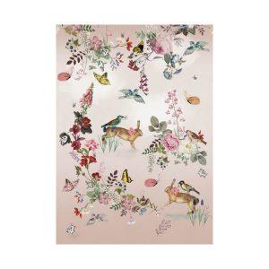 Kinderbehang dieren roze