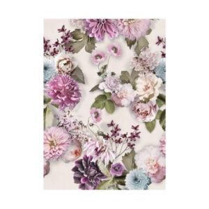 behang bloemen roze