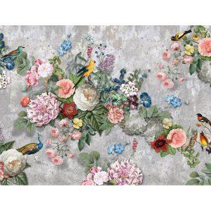 Behang vogels en bloemen